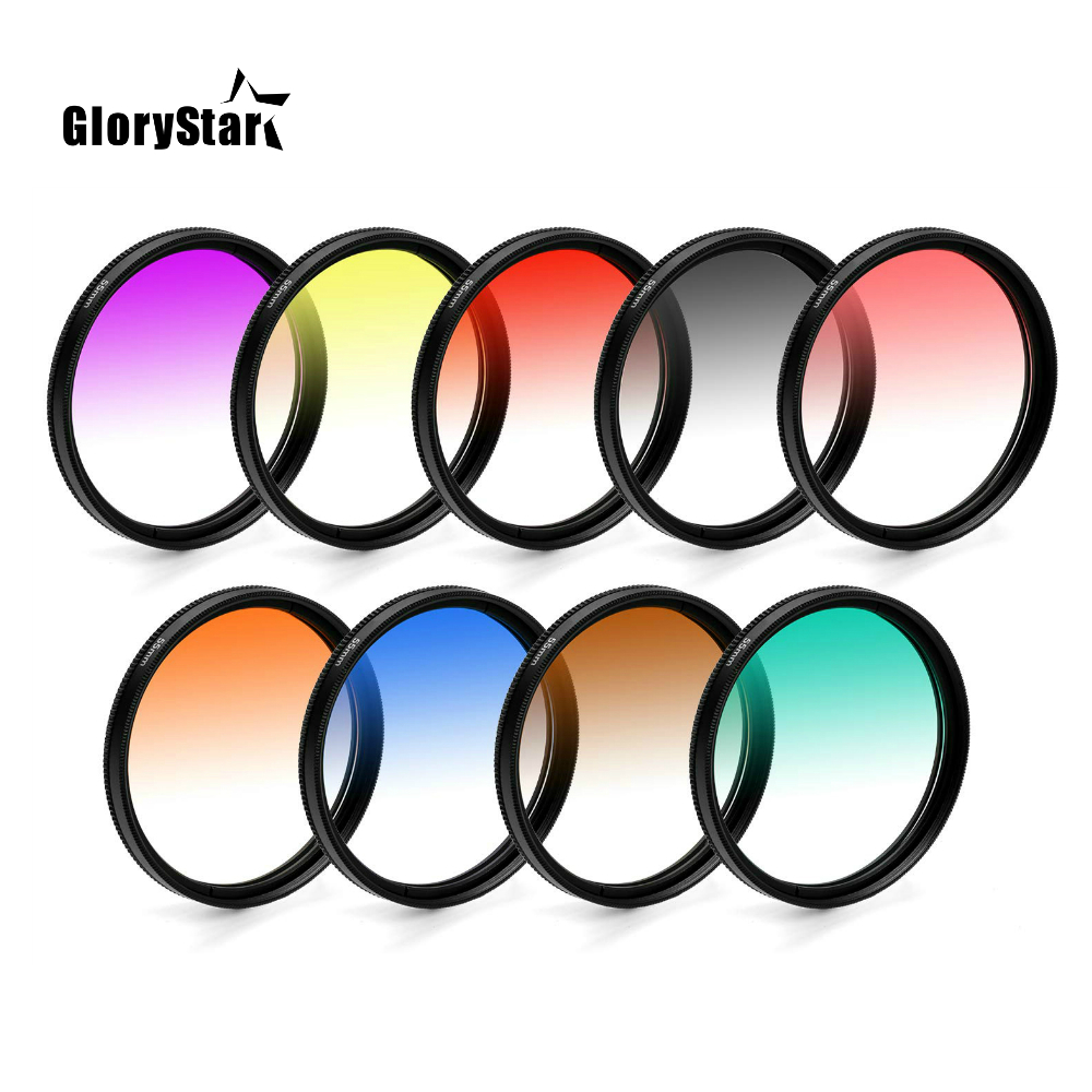Circle Graduated Gradual Gradient Color Lens Filter 30 37 40.5 43 46 <font><b>49</b></font> <font><b>52</b></font> <font><b>55</b></font> <font><b>58</b></font> <font><b>62</b></font> <font><b>67</b></font> <font><b>72</b></font> <font><b>77</b></font> <font><b>82</b></font> MM for Nikon Cannon Sony Pentax image