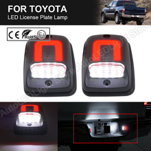 2X LED License Plate Light Number Plate Lamp Red+White light For Toyota Tacoma 1995 1996 1997 1998 1999 2000 2001 2002 2003 2004