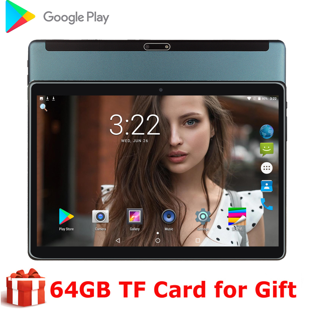 Original 10 Inch Tablet Pc Quad Core Dual Camera 5.0MP Tablet Pc WiFi GPS Dual 3G SIM Phone Tablet 2.5D Tempered Screen Gifts