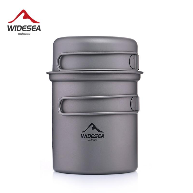 Widesea Титановая посуда для кемпинга, набор для приготовления пищи на открытом воздухе, походный туристический набор|Столовые приборы для пикника|   | АлиЭкспресс
