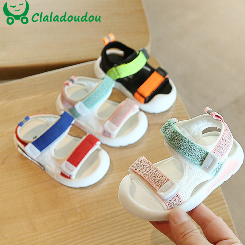 12-15.5cm Mesh Baby Boys Girls Sandals 0-3years Toddler Beach Sandals Flats For Girl Anti-slip Summer Shoes For Dress Walkers