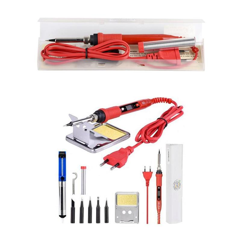 220V 80W LCD Adjustable Temperature Soldering Iron Excellent Durable ABS And Alloy Process Rework Station Repair Tool