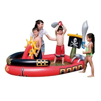 Baby swimming pool Cartoon animal play Water spray inflatable water Play toy Slide