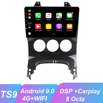 ​OKNAVI 9'' Android 9.0 For Peugeot 3008 Car Manual Radio 2009-2015 Multimedia DSP Player Navigation GPS WiFI 4G Camera No Dvd image