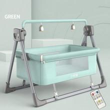 Berceau électrique multifonction pour nouveau-né, chaise à bascule intelligente, panier de couchage confortable