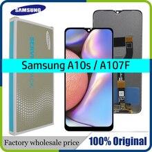 "6.2 ""orijinal AMOLED Samsung galaxy A10s lcd sayısallaştırıcı A107/DS A107F A107FD A107M ekran dokunmatik ekran Digitizer montaj"