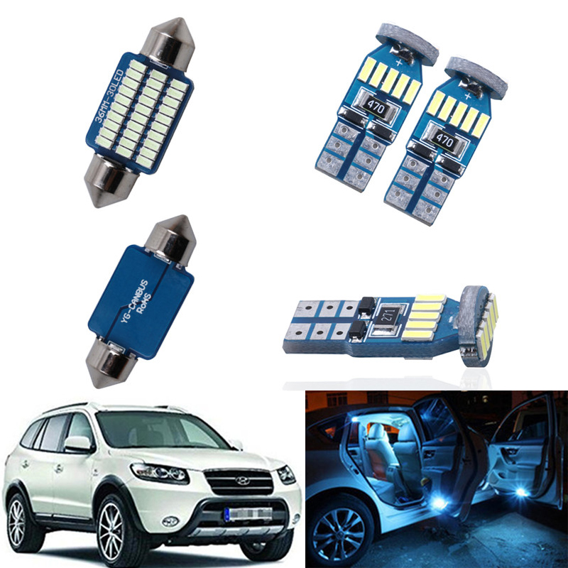 13PCS Car LED Interior Canbus Festoon-31mm Map Dome Trunk License Plate Lights Interior Light Kit For 2007-2012 <font><b>Hyundai</b></font> <font><b>Santa</b></font> <font><b>Fe</b></font> image