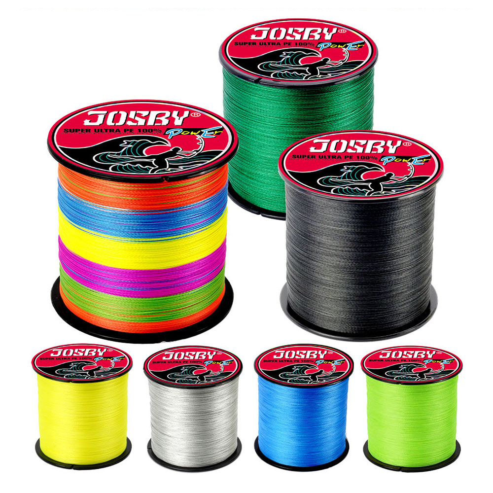 JOSBY marka 100M 150M 300M 500M PE örgü misina çok renkli 8 iplikçik 18-85LB Multifilament sazan tel aksesuarları