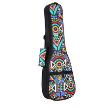 цены Double Strap Hand Folk Ukulele Carry Bag Cotton Padded Case For Ukulele Guitar Parts Accessories,Blue-Graffiti