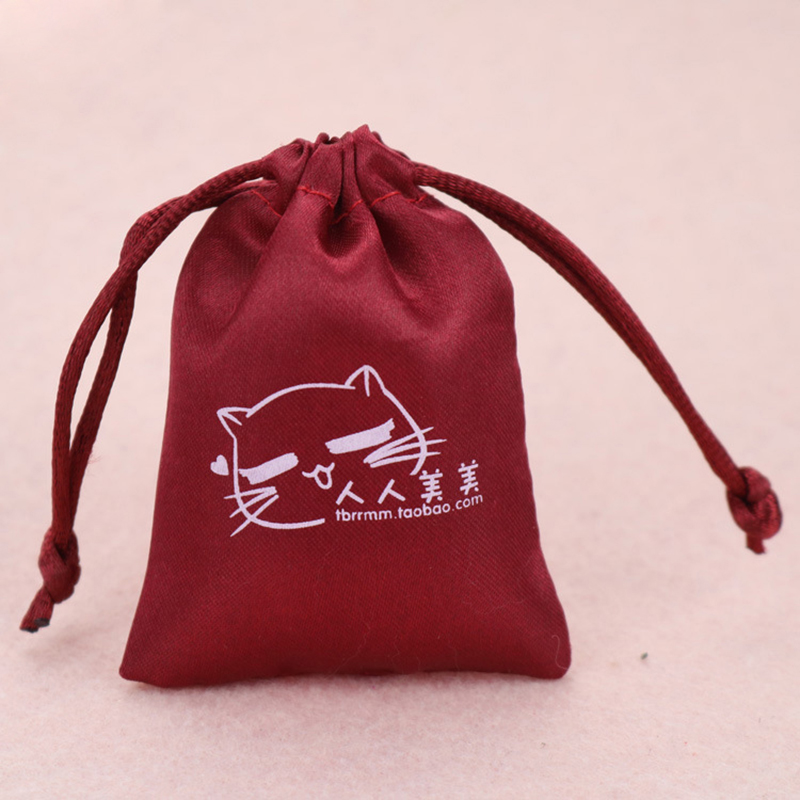 High Quality Silk Satin Storage Bag For Jewelry / Makeup / Furniture Dust Bag, Wig Drawstring Bag, Shiny Satin Storage Bag