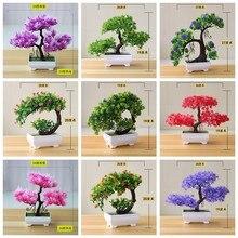 Artificial convidado-saudação pinheiro vaso bonsai casa jardim varanda decoração plantas falsas bonsai hotel ornamentos de mesa