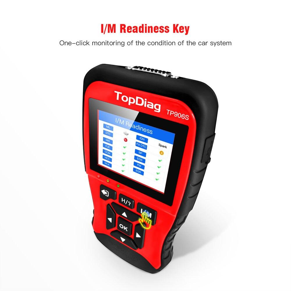 TopDiag Professionelle JD906 JD906S OBD2 Scanner Auto Diagnose-Tool Code Reader OBD 2 OBDII Automotive Scanner Fehler Scan Werkzeuge
