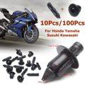 10/100 шт 6 мм Пластиковые заклепки обтекатель отделкой панель крепежные зажимы для Honda для Yamaha для Suzuki