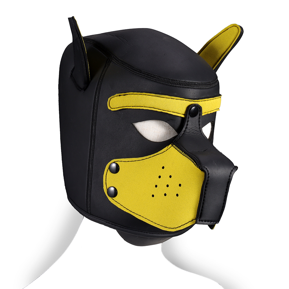 <font><b>Sex</b></font> Leather Cosplay Masks Puppy Role Play SM Sexy Women Girls Rubber Helmet Soft Interest Latex <font><b>Dog</b></font> Mask Necklace <font><b>Collar</b></font> Suit image