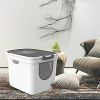 Plastic Bedpan Litter Box Cats Toilet Pets Litter Sand Box Small Toilets Clean Product Bassine Plastique Pets Supplies AA60CL