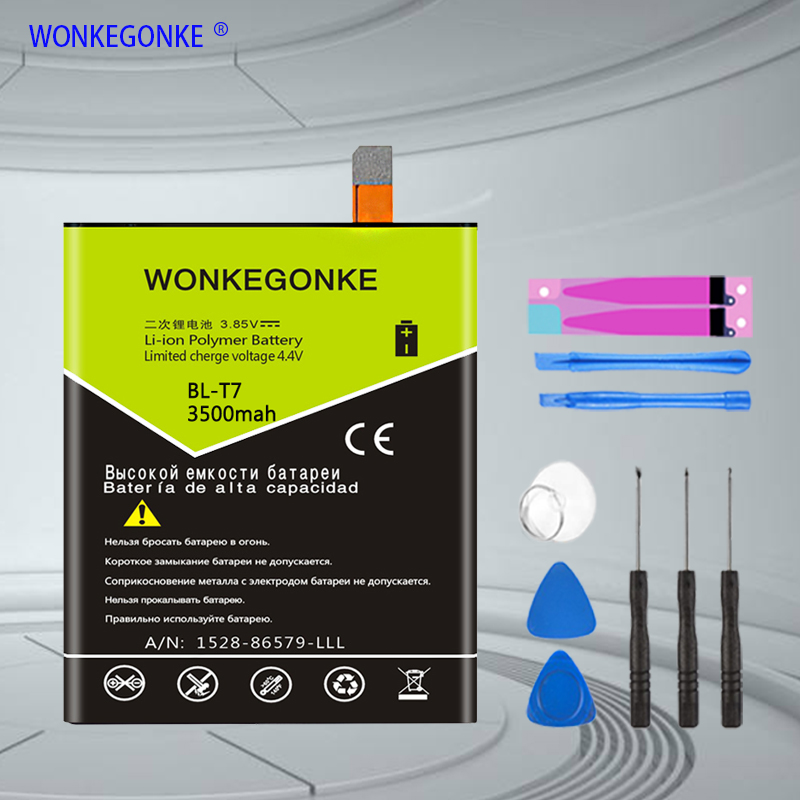 WONKEGONKE <font><b>BL</b></font>-<font><b>T7</b></font> Battery for <font><b>LG</b></font> Optimus G2 D802 D803 4G LTE D800 D801 LS980 Phone Batteries Bateria image