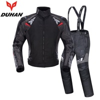 Free shipping 1set Men Motocross Protector Motorcycle Body Armor Racing Cloths Warm Waterproof Coat Motorcycle Jacket and Pants
