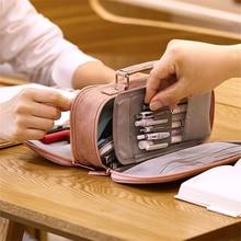 Super Big Pencil Case Fabric Quality Cute School Supplies Stationery Gift School Cute Pencil Box Pencilcase Pencil Bag