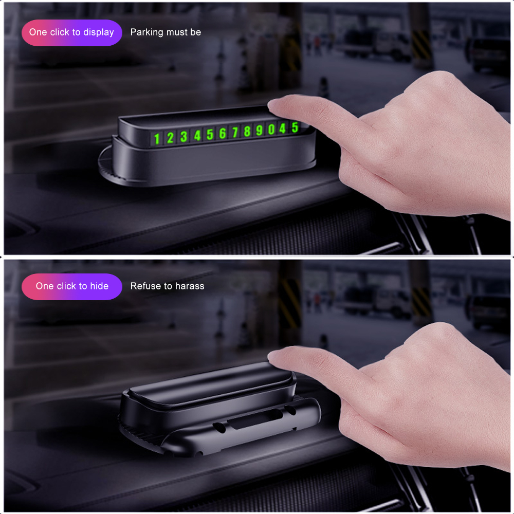 Image 5 - Universal Luminous Car Temporary Parking Card Car Sticker Car Air Freshener Phone Number Card Plate Car Accessories Automobile-in Car Stickers from Automobiles & Motorcycles
