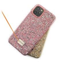Caso de telefone de strass piscando para iphone 11 pro max 2 em 1 diamante glitter caso de volta para iphone xs casos max, CKHB DD