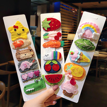 Girl Hair Accessories Cute Decor Clip with Candy Color Vegetable Fruites Hairpin