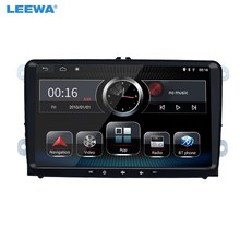 LEEWA 9inch Ultra Slim Android 8.1 Quad Core Car Media Player With GPS Navi Radio For VW Sharon/Amarok/Caddy/EOS #CA5430(China)