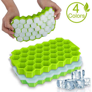 Mold Ice-Cube-Tray Whiskey Honeycomb Cocktail Silicone with Cavity Lids