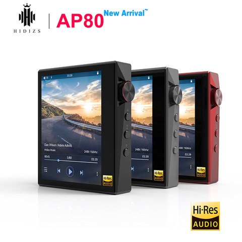 Música de Alta Hidizs Hi-res Bluetooth Fidelidade Mp3 Player Ldac Usb Dac Dsd 64 – 128 Rádio fm Hibylink Falc Dap Ap80 Es9218p