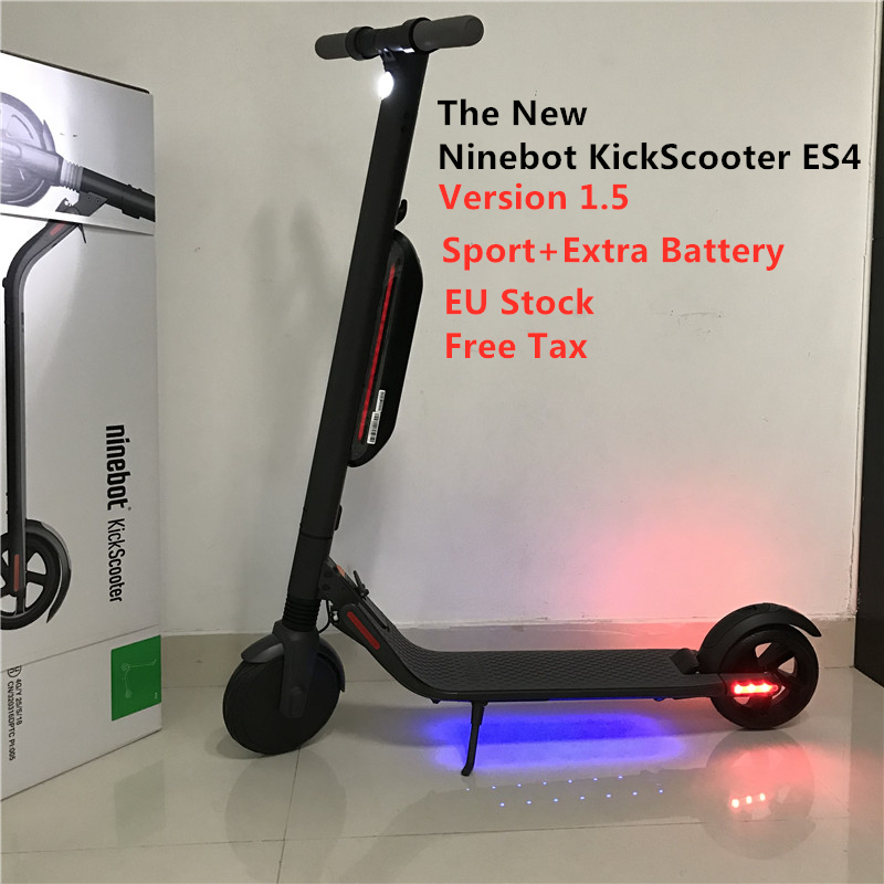New Original Ninebot ES4 KickScooter Version 1.5 Foldable Smart Electric Scooter Hoverboard Lightweight 30 Km/h With LED Display