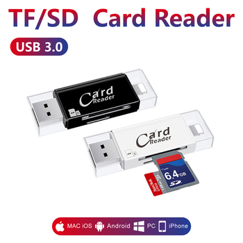 3 in 1 Card Reader SD Tf Card Reader & Micro SD Card Adapter for Computer iPhone iPad Android Mac,Micro USB 3.0