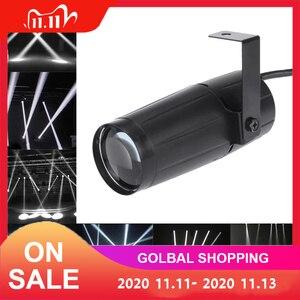 Image 1 - 5W LED לבן קרן Pinspot אור זרקור סופר מואר מנורת כדורי מקרן DJ דיסקו אפקט DMX שלב תאורה מגניב עבור KTV DJ
