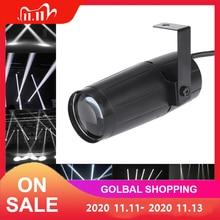 5W LED White Beam Pinspot Light Spotlight Super Bright Lamp Balls proiettore DJ Disco Effect DMX Stage Lighting Cool per KTV DJ