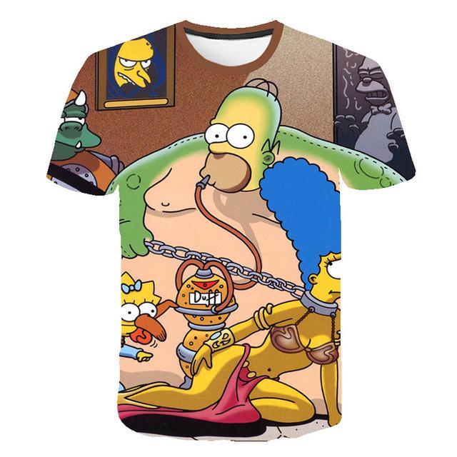 2019 3D Printed Newest Clothing The Simpsons boy girl t-shirt Casual Harajuku Cartoon Funny Write T shirt Street Wearing Tee