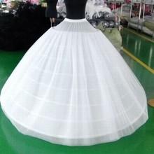 Adult Women's Skirt Ball Gown Petticoat Crinoline Birdcage Cosplay Underskirt Tutu 2 Layers Tulle and 6 Hoop Skirt For Wedding
