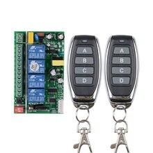 Casa smart ac 85 v ~ 250 v 110 v 220 v 4 ch 10 a 433 mhz rf interruptor remoto sem fio com função manual para o motor claro do diodo emissor de luz