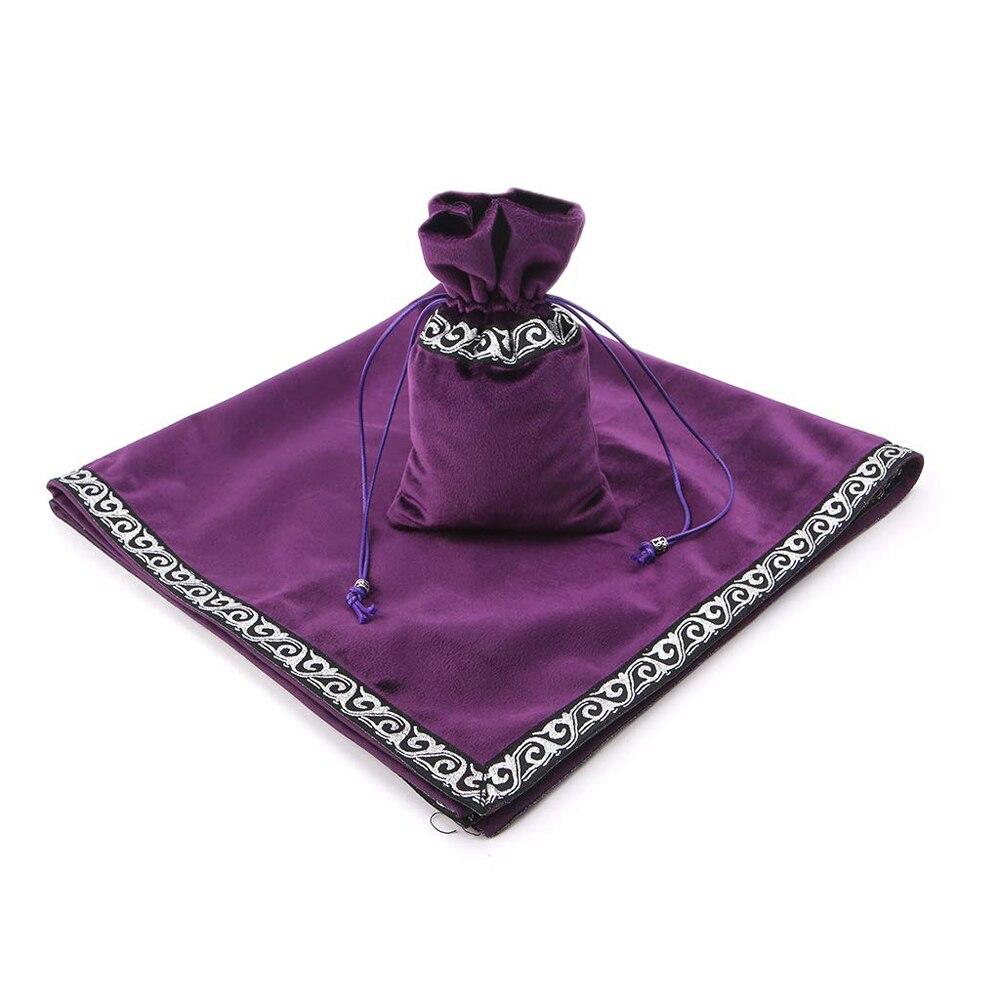 Altar Tarot Cards Bag Party Table Cloth Board Game Tablecloth Divination Wicca Velvet Tapestry Vintage Black Purple Blue