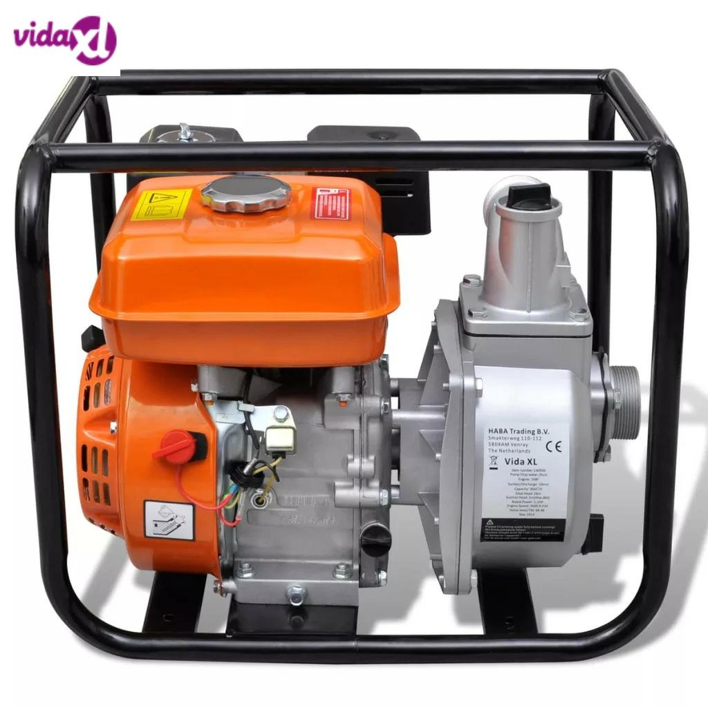 VidaXL Water Pump <font><b>Motor</b></font> Petrol <font><b>50</b></font> MM Connection 5.5 <font><b>HP</b></font> solid steel water pump for garden water supply and irrigation system image