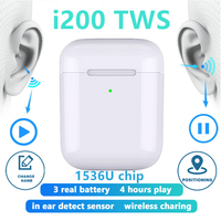 Original i200 TWS Wireless Headphones 1:1 copy Bluetooth Earphone charging Earbuds Headset For iPhone PK i500 i100 i9000 i10 TWS