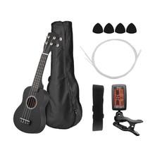 """2"""" Гавайские гитары укулеле набор цветной акустический сопрано Гавайские гитары укулеле комплект Липа с сумкой для переноски струны медиаторы гитарный тюнер"""