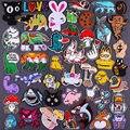 Nette Tiere Patch Einhorn Katze Streifen Bestickt Patches für Kinder Kleidung Aufkleber Cartoon Abzeichen Eisen auf Patches DIY Applique