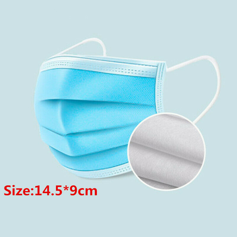 In Stock 50PC Disposable Children's Mouth Mask 3 Layers Non-woven Anti Dust Soft Breathable Respirator Face Mouth Mask TSLM1 2