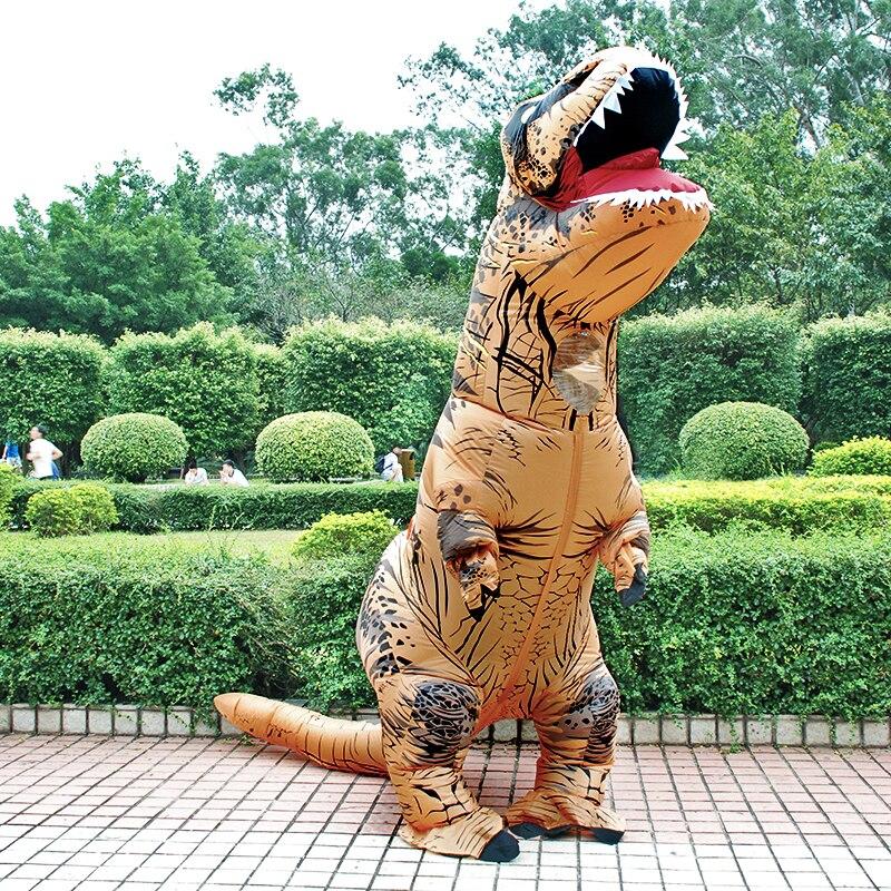 T rex inflável dinossauro traje festa fantasias cosplay fantasia mascote anime traje de halloween para adulto crianças dino dos desenhos animados