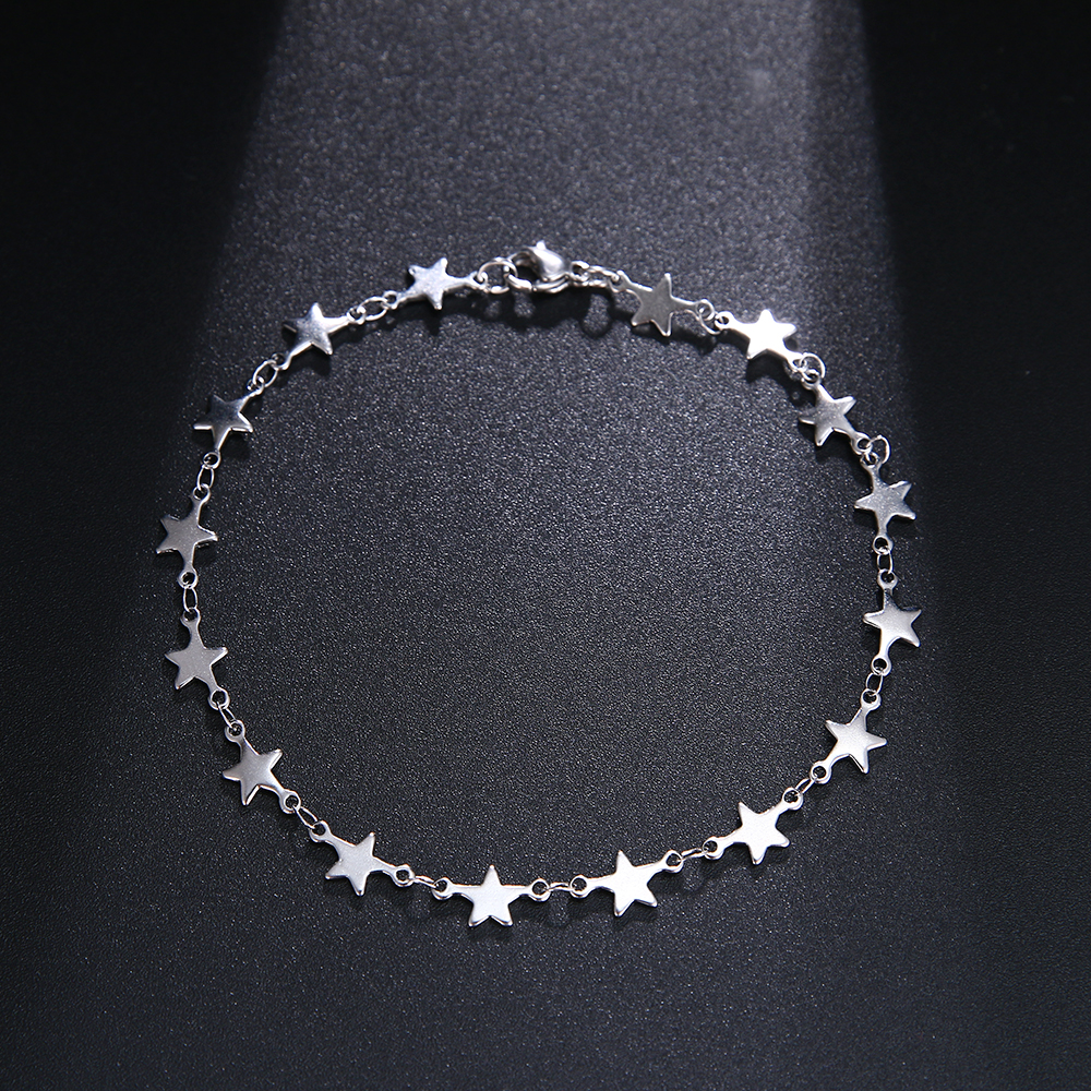 CACANA Stainless Steel Chain Bracelets For Man Women Gold Silver Color For Pendant Pentagram Donot Fade Jewelry N1846