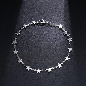 Мужские и женские браслеты-цепочки из нержавеющей стали CACANA, золотистого и серебристого цвета, ювелирные изделия с пентаграммой, ювелирные изделия N1846