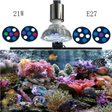 21W Full Spectrum LED Aquarium Light Par38 Coral Reef Used Aqua Marine Reef Lamp E27 Plant Grow Light for Saltwater Tank(China)