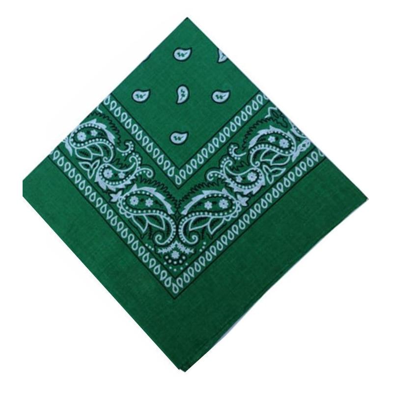 Polyester-cotton Bandana Hairwrap Headband Double Sided Head Wrap Scarf Paiseley Green