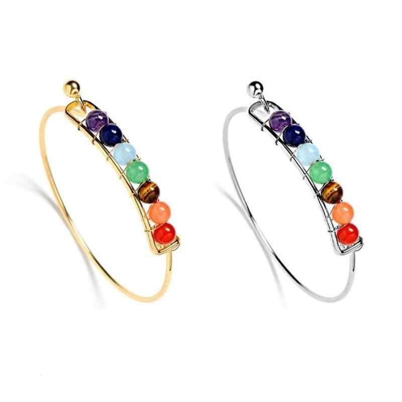 Kobieta kolorowy koralik bransoletka moda różowe złoto łańcuch nadgarstek prosty bransoletka biżuteria akcesoria świąteczne