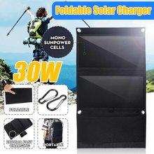 Sunpower-cargador de Panel Solar plegable, portátil, 30W, 5V, USB Dual, mochila de camuflaje, Camping, senderismo, para teléfono