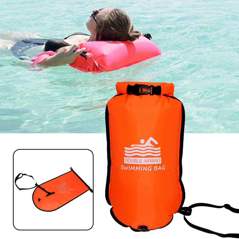 1pc Open Water Swim Buoy Swim Float Dry Bag Backpack for Swimmers