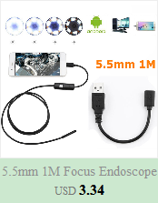 He8475001caa54a689495eba77dcd14e0g 5.5mm Endoscope Camera 1/1.5/2/3.5/5M  2 in 1 Micro USB Mini Camcorders Waterproof 6 LED Borescope Inspection Camera For Android